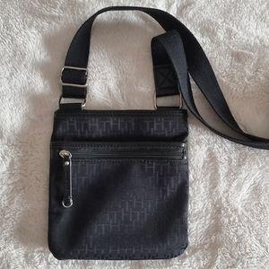 Tommy Hilfiger Vintage Original Monogram Crossbody Bag in Black